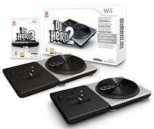 Wii DJ HERO 2 Turntable Party Bundle Game Set kit Nintendo daft punk lady gaga