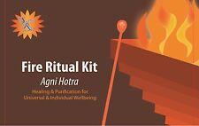 Agni hotra Havan Fire Ritual Kit agnihotra w/ medium copper pyramid + INSTR