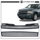 Front Hood Bumper Grille Black Mesh Grill For Tahoesuburbanavalanche 2007-2014