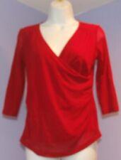 Womens Mimi Maternity Red V-Neck Blouse S