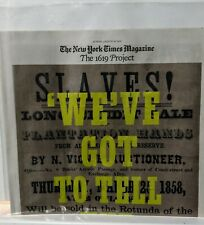 1619 Project Newspaper Print Section With Protective Cover New York Times Blm