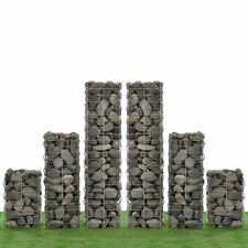 [NEU.HAUS]® Gabionen 6er-Set 115+75+45cm Gabione Steinkörbe Mauer Wand Säule
