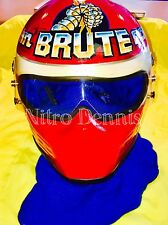 NHRA John Force RACE WORN HELMET Funny Car NITRO Rare DRAG RACING Signed BRUTE