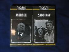 Alfred Hitchcock, Murder 1930 & Sabatoge 1936 Herber Marshall, VHS Tapes