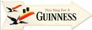 US Blechschild Irish Pub This way for a Guinness Pfeil Größe ca. 68 x 22 cm