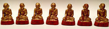 19th Century, Mandalay, A Set of Antique Burmese Wooden Seated Disciples