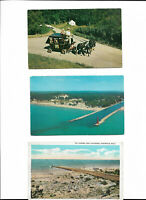 Postcards Pentwater Michigan Lot/3 Channel Lighthouse Gregwer's For Pet Rescue