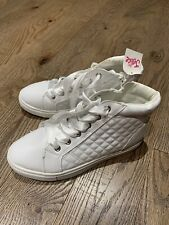 New Justice Girls High White Sneakers Shoes Size 2 Bts School Trendy