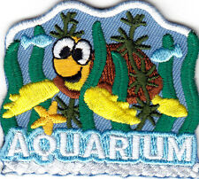 Aquarium Iron On Patch Fish Turtles Dolphins Shark Sea Creatures