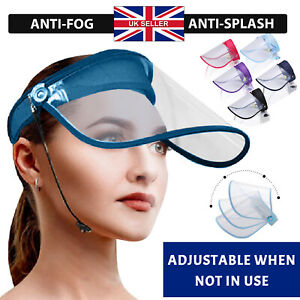 Full Face HEADBAND Cover Protection Visor PPE Shield Transparent Clear Plastic