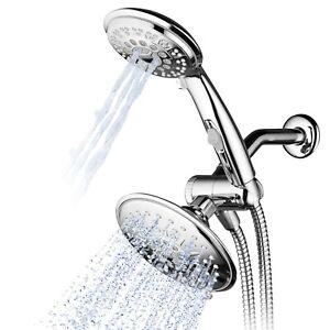 Hydroluxe 6'' Multi Setting Chrome Rainfall Shower Head & Handheld Combo