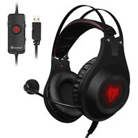 NUBWO N2 USB Wired Gaming Headset Over-Ear Stereo PC Headphones with Microphone