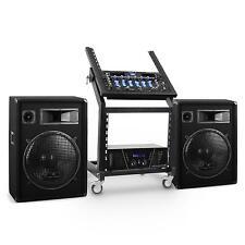 SET DJ PA 1600W RACK MOBILE AMPLI ENCEINTES 400W RMS TABLE DE MIXAGE EQ ECHO