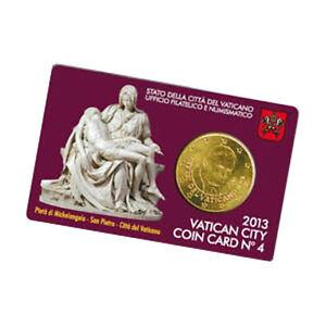Coincard Vatikan 2013 Nr.4 50 Cent Euro Münze Kursmünze