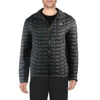 Reebok Men's Quilted Hoodless Warm Winter Packable Puffer Jacket