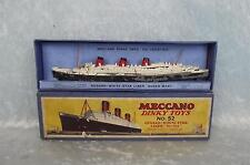 Boxed Pre-War Dinky Toys No. 52 Cunard White Star Liner Queen Mary No.534 1934-5
