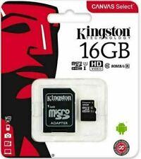 KINGSTON 16GB 32GB Lona seleccionar Adaptador de Tarjeta Micro SD clase 10 100MB