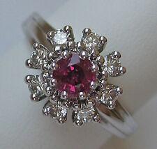 Princess ♛ Ring aus 14kt 585 Gold mit Diamant Brillant Top Rubin Rubine ★ 1190 €