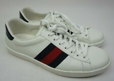Gucci Men's White Ace Clean Leather Low Top Sneakers Men's Shoes Size 8 G / 9 US