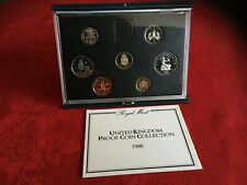 More details for 1988 proof set. royal arms £1 coin. blue case with coa