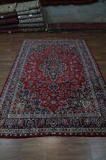 Unusual Size Plush Traditional Red Mashad Persian Oriental Area Rug Carpet 8X13