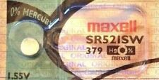 1 NEW Maxell SR521SW 379 Silver Oxide 1.55v Watch Battery Aussie Stock FastPost