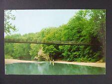 Marshall Indiana IN Bridge Sugar Creek Turkey Run Park Curt Teich Postcard 1955
