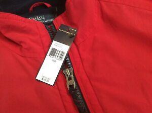 New Polo Ralph Lauren $225 XXL Red Jacket Bomber fleece front full zip Size 2XB