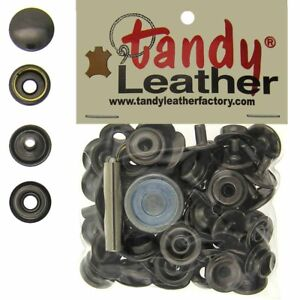 Tandy Leather 5/16 Inch Post, Line 24 Snap fastener kit CT.15 w/Tools - Gun
