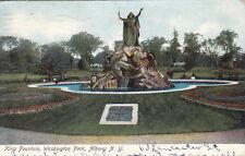 King Fountain, Washington Park, Albany, NY, Pre-Linen PC,