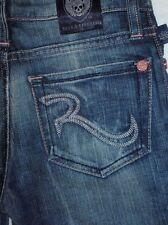 GIRLS ROCK & REPUBLIC DISTRESSED BLUE BAILEY IN NEMESIS URBAN JEANS 10 BAY0350