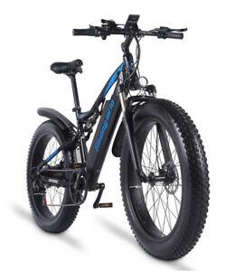 4.0 Fat tyre Electric bicycle 1000W Men's Ebike 48V 17AH Mountain bike City