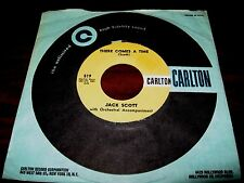 JACK SCOTT ~ THERE COMES A TIME / BABY MARIE  ~ CARLTON ~ MINT