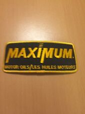 Vtg Maximum Motor Oils Sew On Embroidered Patch Canadian Tire Motomaster Canada