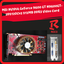 MSI NVIDIA GeForce N9600GT - 2D512OCv2 512MB DDR3 Video Card FREE SHIPPING (W)