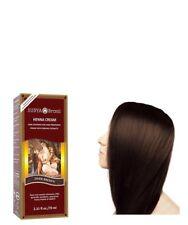 Tinte Colorante De Cabello Coloración Marrón Oscuro Rojizo Crema De Alheña Henna