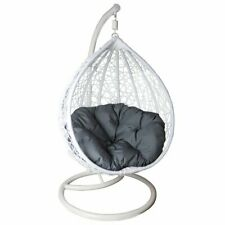 Outdoor Children Hanging Egg Chair Swing Patio Porch White Furniture-Fun Times!