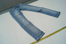 LTB Damen super slim Jeans Hose Stretch hellblau used look risse W24 L30 #68