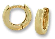 18k Yellow Gold Baby Huggies Tiny Round Hinged Hoop Earrings 10 mm