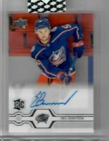 2019-20 Upper Deck Clear Cut Emil Bemstrom Rookie Auto CBJ Blue Jackets