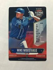 MIKE MOUSTAKAS 2015 PLATINUM SERIES BASEBALL GAME CARD, ROYALS, REDS