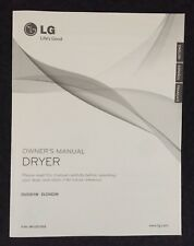 LG Clothes Dryer Owners Manual for DLE5001W-DLG5002W English,French,Spanish