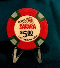 SAHARA HOTEL $5 CASINO CHIP, FANTASY RE-MAKE, LAS VEGAS, NEVADA