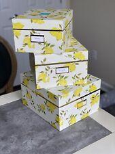 Kate Spade New York LEMON Small Medium Large Storage Nesting Box Set