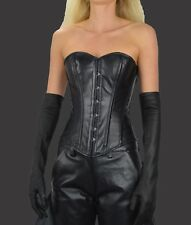 0931 Real Leather corsets Full Steel Boned,leather corset,Leather Bustier,Basque
