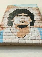 DIEGO MARADONA D10S  NAPOLI CALCIO Murales realizzato a mano su muro Raro