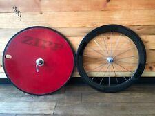 ZIPP 870 Disc Rear Wheel / ZIPP Carbon Front Wheel - Shimano / Sram 650c