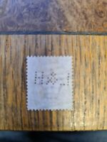 1857, 1d rose red stamp L and H perfin plate 20? P20