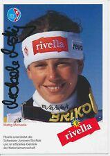 Michaela Mattig  CH   Ski Alpin Autogrammkarte signiert 374384