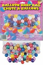 BALLOON DROP BAG NET BIRTHDAY PARTY WEDDING CHRISTENING BBQ CHRISTMAS NEW YEAR